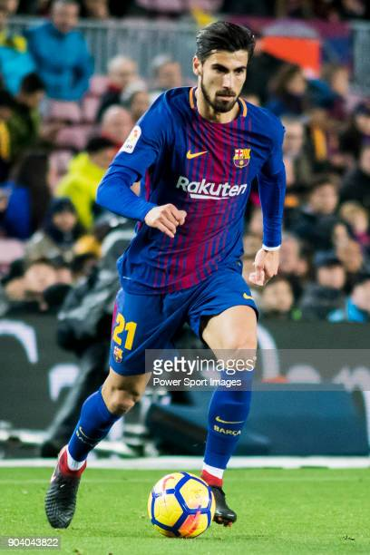 Andre Filipe Tavares Gomes of FC Barcelona in action during the La Liga 201718 match between FC Barcelona and Levante UD at Camp Nou on 07 January...