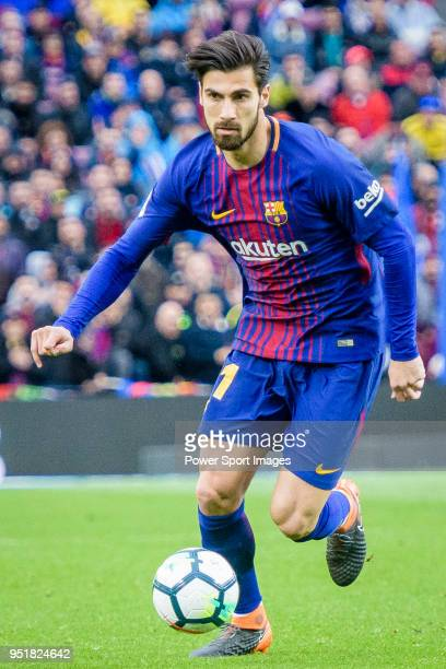 Andre Filipe Tavares Gomes of FC Barcelona in action during the La Liga 201718 match at Camp Nou between FC Barcelona and Atletico de Madrid on 04...
