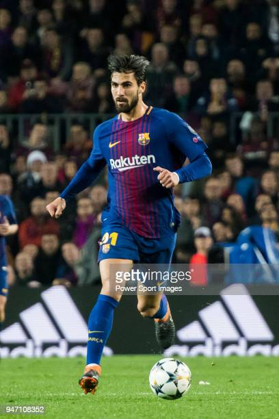 Andre Filipe Tavares Gomes of FC Barcelona in action during the UEFA Champions League 201718 Round of 16 match between FC Barcelona and Chelsea FC at...