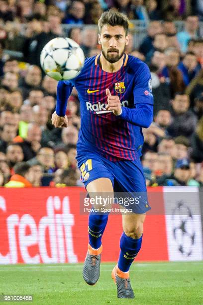Andre Filipe Tavares Gomes of FC Barcelona in action during the UEFA Champions League 201718 quarterfinals match between FC Barcelona and AS Roma at...