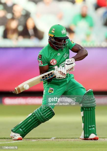 Andre Fletcher of the Stars bats during the Big Bash League match between the Melbourne Stars and the Adelaide Strikers at Melbourne Cricket Ground,...