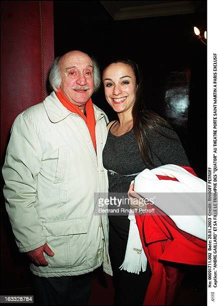 Andre Gaillard and his daughter the success of 'Quartets' at the theater Porte Saint Martin in Paris