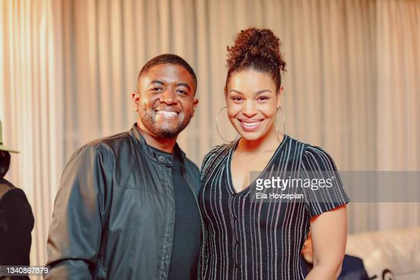 Andre Gains and Jordin Sparks attend The One And Only, Dick Gregory, Album Release Event on September 16, 2021 in Burbank, California.