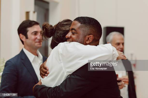 Andre Gains greets guest at The One And Only, Dick Gregory, Album Release Event on September 16, 2021 in Burbank, California.
