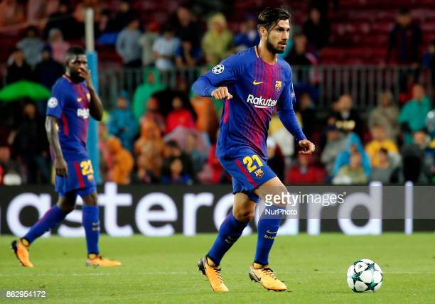 Andre Gomes during Champions League match between FC Barcelona v Olympiakos FC in Barcelona on October 18 2017