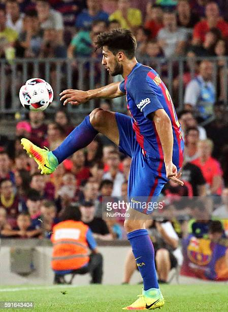Andre Gomes during the match between FC Barcelona and Sevilla CF corresponding to the second match of the spanish Supercup played at the Camp Nou...
