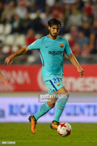 Andre Gomes during the match between Real Murcia vs FC Barcelona Copa del Rey 2017/18 in Nueva Condomina Stadium Murcia Spain on 24th of October 2017