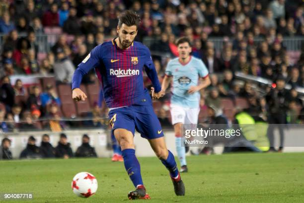 Andre Gomes during the spanish Copa del Rey match between FC Barcelona and Celta de Vigo at the Camp Nou Stadium in Barcelona Catalonia Spain on...