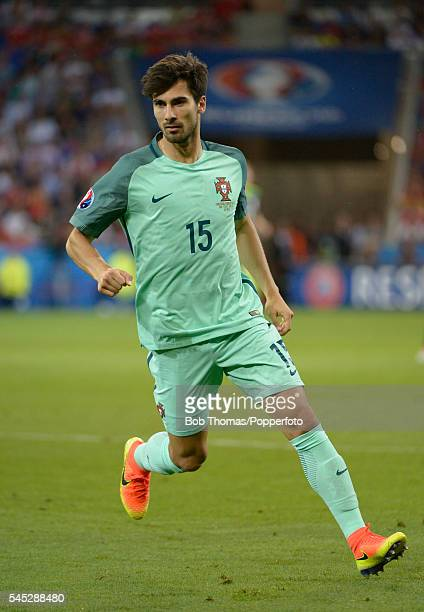 Andre Gomes in action for Portugal during the UEFA EURO 2016 semi final match between Portugal and Wales at Stade des Lumieres on July 6 2016 in Lyon...