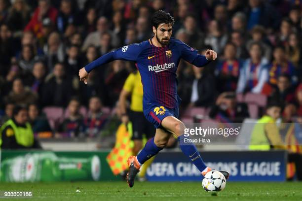 Andre Gomes of Barcelona in action during the UEFA Champions League Round of 16 Second Leg match FC Barcelona and Chelsea FC at Camp Nou on March 14...