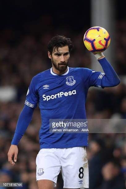 Andre Gomes of Everton during the Premier League match between Everton FC and Watford FC at Goodison Park on December 10 2018 in Liverpool United...