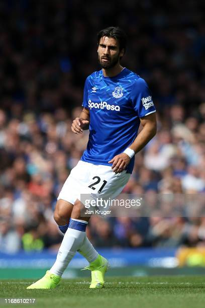 Andre Gomes of Everton during the Premier League match between Everton FC and Watford FC at Goodison Park on August 17 2019 in Liverpool United...