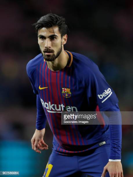 Andre Gomes of FC Barcelona during the La Liga Santander match between FC Barcelona v Levante at the Camp Nou on January 7 2018 in Barcelona Spain