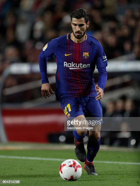 Andre Gomes of FC Barcelona during the Spanish Copa del Rey match between FC Barcelona v Celta de Vigo at the Camp Nou on January 11 2018 in...