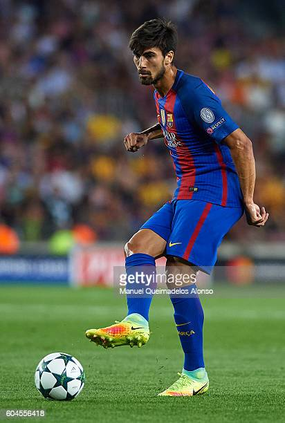 Andre Gomes of FC Barcelona in action during the UEFA Champions League Group C match between FC Barcelona and Celtic FC at Camp Nou on September 13...