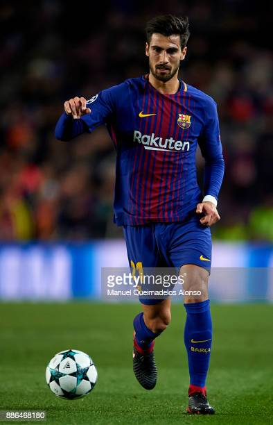Andre Gomes of FC Barcelona in action during the UEFA Champions League group D match between FC Barcelona and Sporting CP at Camp Nou on December 5...