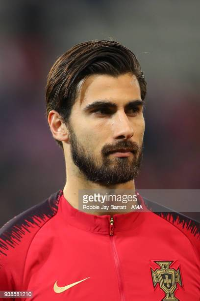 Andre Gomes of Portugal during the International Friendly match between Portugal and Holland at Stade de Geneve on March 26 2018 in Geneva Switzerland