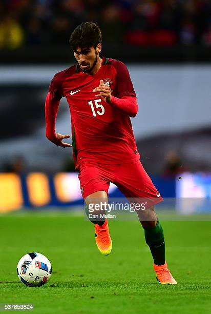 Andre Gomes of Portugal in action during the international friendly match between England and Portugal at Wembley Stadium on June 2 2016 in London...