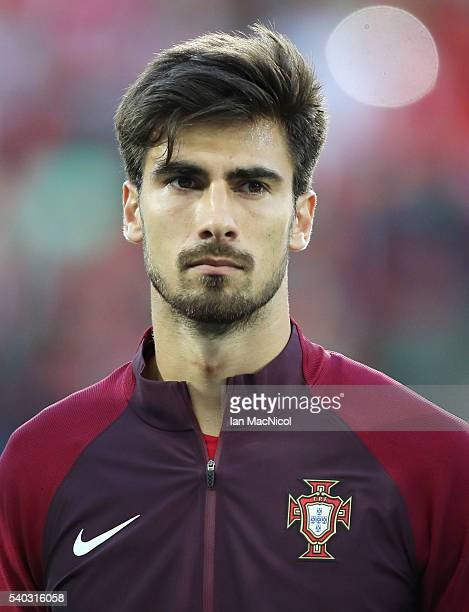 Andre Gomes of Portugal looks on during the UEFA EURO 2016 Group F match between Portugal and Iceland at Stade GeoffroyGuichard on June 14 2016 in...