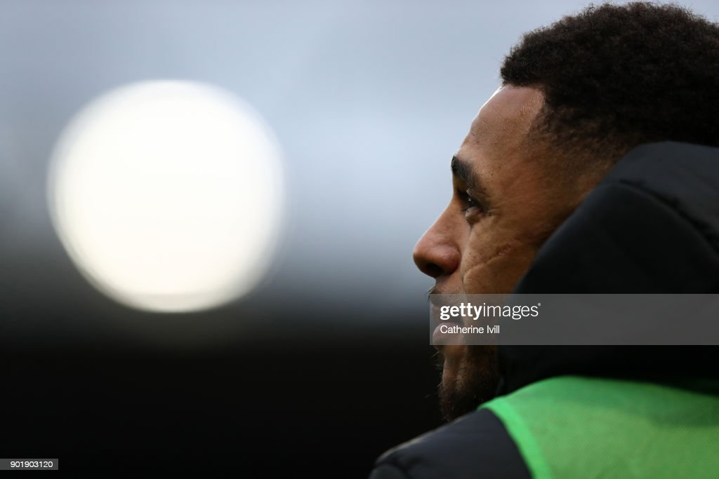 Andre Gray of Watford during the Emirates FA Cup Third Round match between Watford and Bristol City at Vicarage Road on January 6, 2018 in Watford, England.