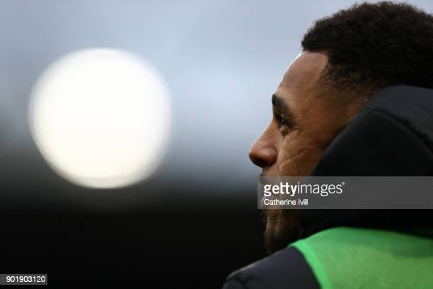 Andre Gray of Watford during the Emirates FA Cup Third Round match between Watford and Bristol City at Vicarage Road on January 6 2018 in Watford...