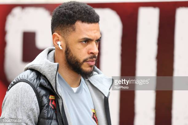 Andre Gray of Watford during the Premier League match between Crystal Palace and Watford at Selhurst Park London on Saturday 7th March 2020