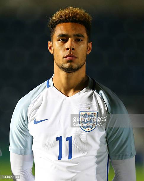 Andre Green of England U19 during the U19 International match between England and Bulgaria at Adams Park on October 10 2016 in High Wycombe England
