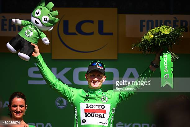 Andre Greipel of Germany and LottoSoudal retains the green jersey following stage seven of the 2015 Tour de France a 1905km stage between Livarot and...