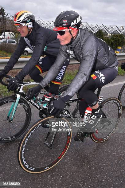 Andre Greipel of Germany and Team Lotto Soudal / Marcus Burghardt of Germany and Team BoraHansgrohe / during the 109th MilanSanremo 2018 a 291km race...