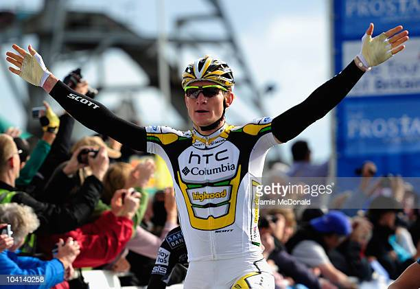 Andre Greipel of Team HTC-Columbia wins Stage Six during Stage Six of the Tour of Britain on September 16, 2010 in Great Yarmouth, England.