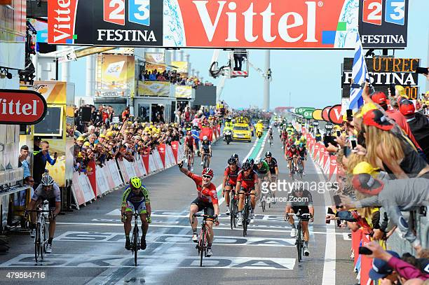 Andre Greipel of Team Lotto Soudal competes during Stage Two of the Tour de France on Sunday 05 July 2015 Zeeland The Netherlands