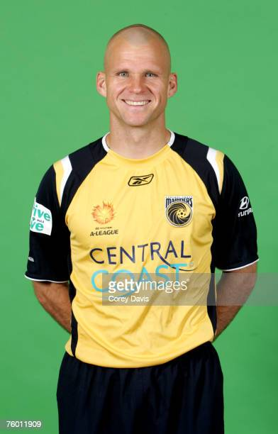 Andre Gumprecht of the Central Coast Mariners poses during the official 2007/2008 Hyundai A-League portrait session at Bluetongue Stadium August 2,...