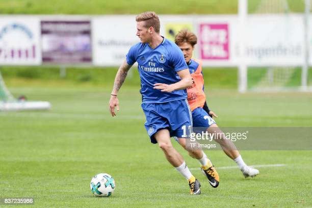 Andre Hahn of Hamburg controls the ball during the Training Camp of Hamburger SV on July 23 2017 in Laengenfeld Austria