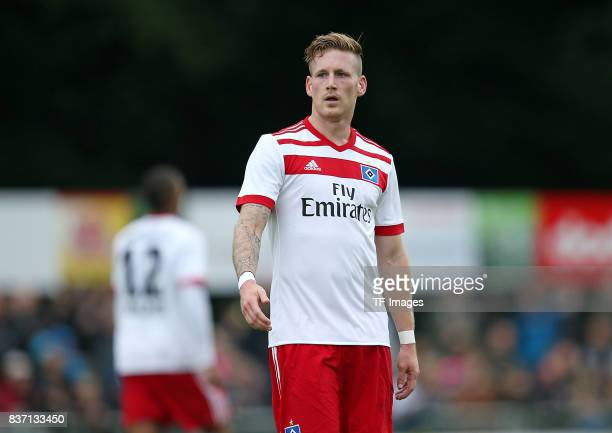 Andre Hahn of Hamburg looks on during the preseason friendly match between Rotenburger SV and Hamburger SV on July 12 2017 in Rotenburg Germany