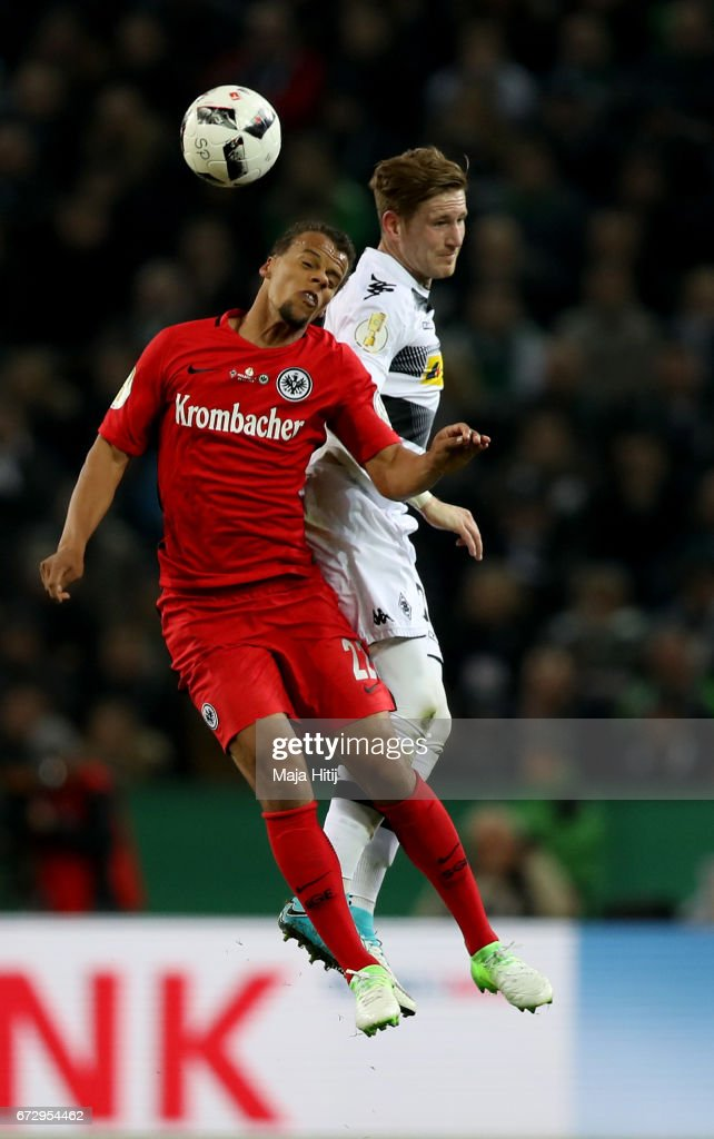 Borussia Moenchengladbach v Eintracht Frankfurt - DFB Cup Semi Final : News Photo