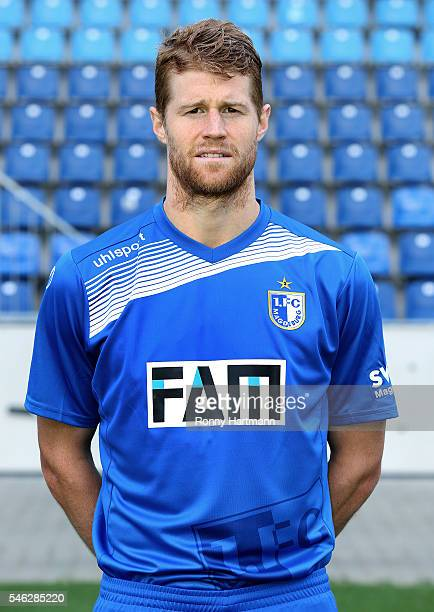 Andre Hainault poses during the team presentation of 1 FC Magdeburg at MDCCArena on July 7 2016 in Magdeburg Germany Andre Hainault