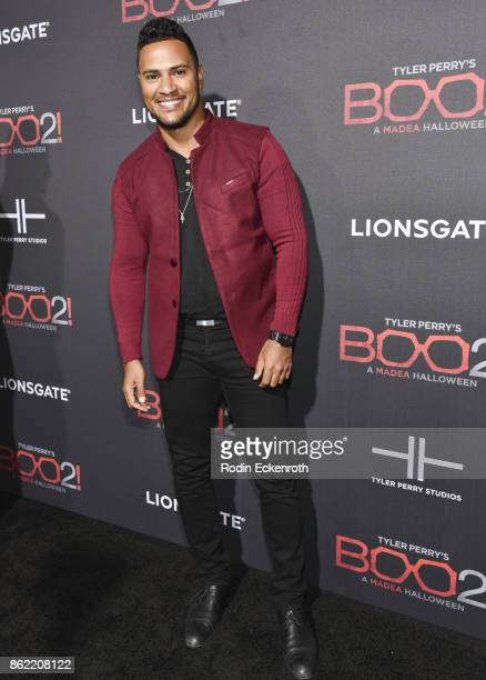 Andre Hall arrives at the premiere of Lionsgate's 'Tyler Perry's Boo 2 A Madea Halloween' at Regal LA Live Stadium 14 on October 16 2017 in Los...