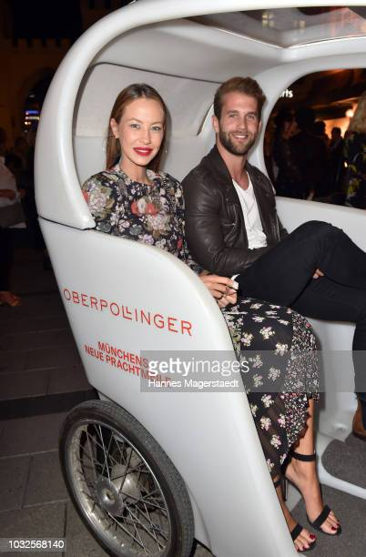 Andre Hamann and Alessandra MeyerWoelden during the grand opening of the new Oberpollinger ground floor 'Muenchens Neue Prachtmeile' at Oberpollinger...
