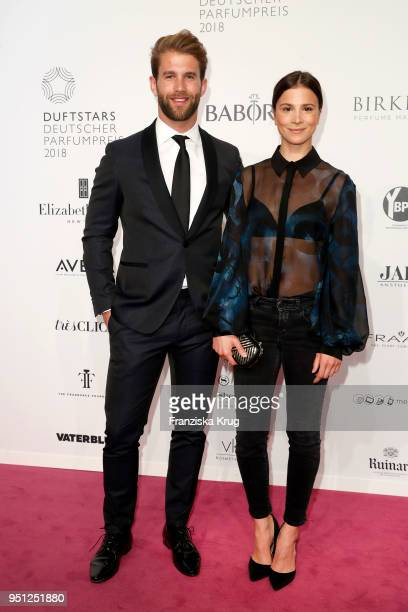 Andre Hamann and Aylin Tezel attend the Duftstars at Flughafen Tempelhof on April 25 2018 in Berlin Germany