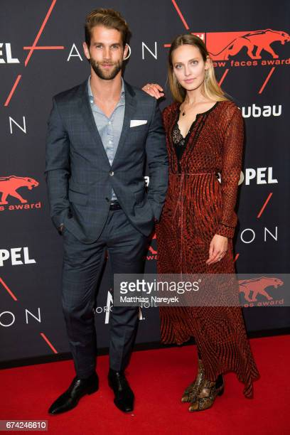 Andre Hamann and Pamina Weiss attend the New Faces Award Film at Haus Ungarn on April 27 2017 in Berlin Germany