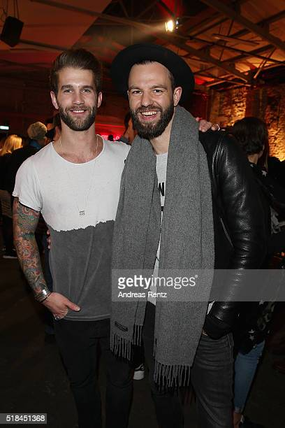 Andre Hamann and Tewe Maas attend the REVIEW by Sami Slimani Capsule Collection launch party on March 31 2016 in Duesseldorf Germany