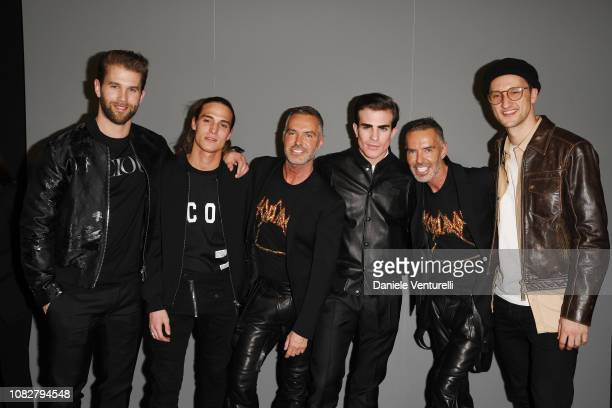 Andre Hamann Andrea Faccio Dan Catenm Massimo Sestini Dean Caten and guest attend the Dsquared2 Aftershow Party during Milan Men's Fashion Week...