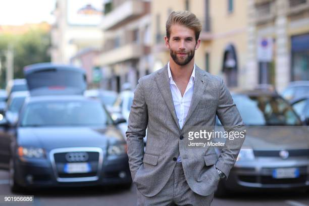 Andre Hamann during the Milan Fashion Week on September 24 2017