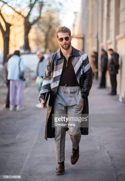 Andre Hamann is seen outside Fendi during Milan Menswear Fashion Week Autumn/Winter 2019/20 on January 14 2019 in Milan Italy