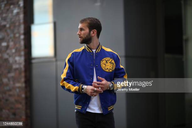 Andre Hamann wearing Polo Ralph Lauren, Topman Shirt and Mother jeans on May 29, 2020 in Hamburg, Germany.