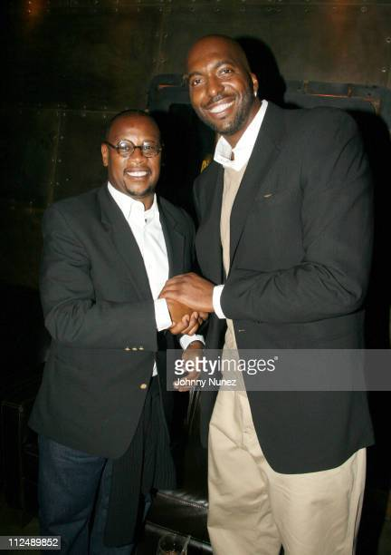 Andre Harrel and John Salley during Vh1 Global Fund Dinner at Stout NYC in New York City New York United States