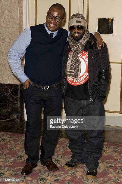 Andre Harrell and Jermaine Dupri attend 'A Night With The News' with Jermaine Dupri at the New Yorker Hotel on March 20 2008 in New York City