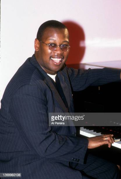 Andre Harrell appears in a portrait taken backstage at The Apollo Theater on January 10, 1994 in New York City.