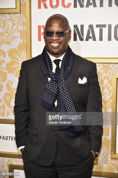 Andre Harrell attends the 2018 Roc Nation PreGrammy Brunch at One World Trade Center on January 27 2018 in New York City