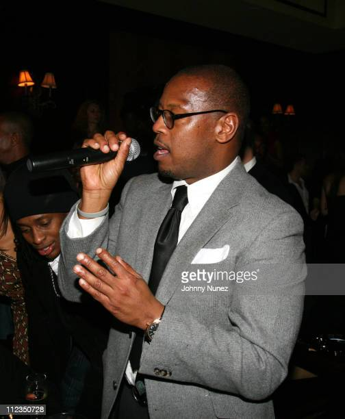 Andre Harrell during 'Dreamgirls' New York Premiere After Party Hosted by Unik and Jamie Foxx at Gin Lane in New York City New York United States